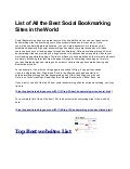 A killer list of social bookmarking sites-Top 100 bookmarking for SEO