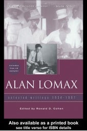 Alan lomax: selected writings, 1934...
