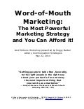 Barber Word-of-Mouth Marketing Workshop: Webinar Handout