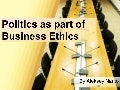Politics as part of Business Ethics (case of Belarus compared to US)