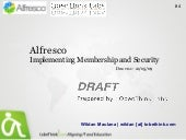 Alfresco  : Implementing Membership...