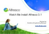 Watch Me Install Alfresco
