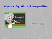 Algebra equations & inequalities