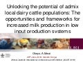 Unlocking the potential of admix local dairy cattle populations: The opportunities and frameworks for increased milk production in low input production systems