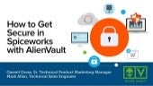 Alienvault threat alerts in spiceworks