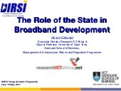 The role of state in broadband deve...