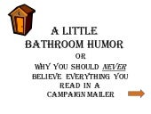 A little bathroom humor  - A Tale of the Beach Chalet Athletic Fields Restrooms