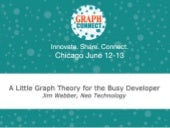A Little Graph Theory for the Busy Developer - Jim Webber @ GraphConnect Chicago 2013