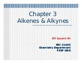 Chapter 3 Alkenes and Alkynes