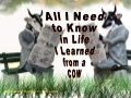All  I Need To Know In Life,  I Learned From A Cow