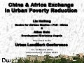 China & Africa Exchange  In Urban Poverty Reduction - Allan Cain, Pro-Poor Urban Development: China and Africa Workshop, Pro-Poor Urban Development: China and Africa Workshop