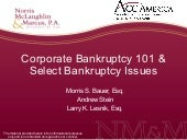 Corporate Bankruptcy 101 & Sele...