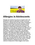 Allergies in adolescents
