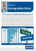 Allianz Demographic Pulse | Retirement | March 2013