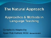 The Natural Approach | Methods and ...