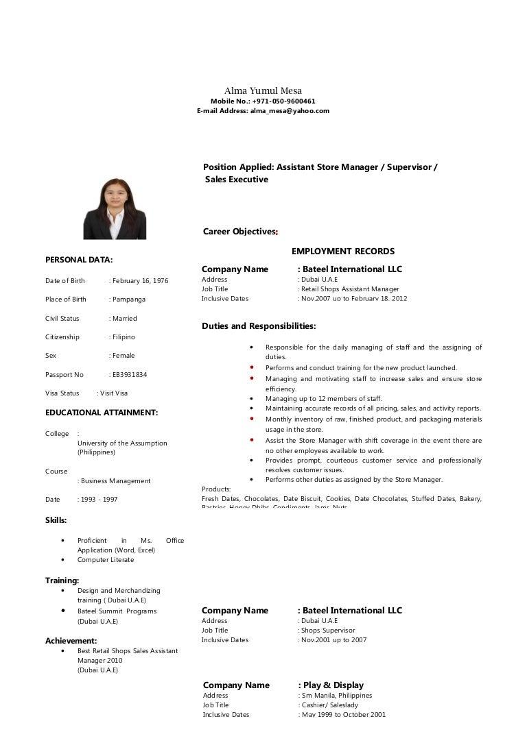 Stunning Resume Sales Lady Photos Simple Resume Office Templates