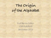 The Origin of the Alphabet