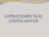Alteraciones en el adulto mayor