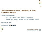 Web Engagement: From Capability to ...