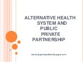 Alternative health system and publi...