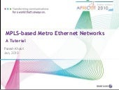 MPLS-based Metro Ethernet Networks ...