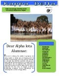Alumnae newsletter