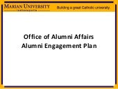 Alumni Engagement Plan