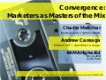 #Ama higher ed 2014 - marketers as masters of the mix