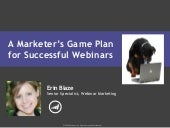A Marketer's Game Plan for Successf...