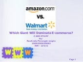 Amazon vs Wal-Mart
