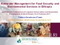 Rainwater management for food security and environmental services in Ethiopia