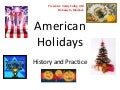 American holidays ppt