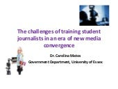 The challenges of teaching journali...