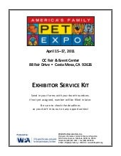 America's family pet expo exhibitor...