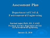 Assessment in the Department of Civ...