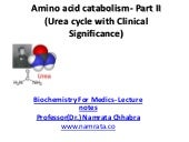 Amino acid catabolism - Part-2 (Ure...