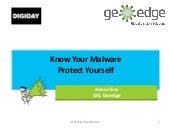 Know Your Malware: Protect Yourself @ DPS Europe, 2/4/15
