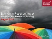 Amárach Economic Recovery Index August 2014