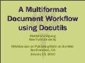 A Multiformat Document Workflow With Docutils