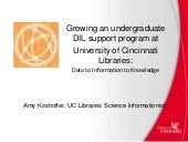 RDAP 15: Growing an Undergraduate DIL Support Program at University of Cincinnati Libraries