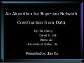 An Algorithm for Bayesian Network C...