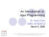 An Introduction to Ajax Programming