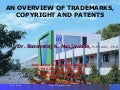 An Overview Of Trademarks, Copyrights And Patents