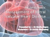 Anaesthetic management of mitral va...
