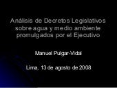 Analisis Decretos Legislativos sobr...