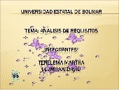 Analisis requisito