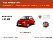 Analisi Web Marketing Fiat - Andrea...