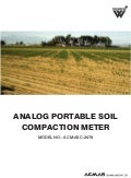 Portable Analog Soil Compaction Meter by ACMAS Technologies Pvt Ltd.