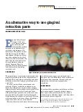 An alternative way to use gingival retraction paste
