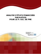 Analyse des Etats Financier & Ratios